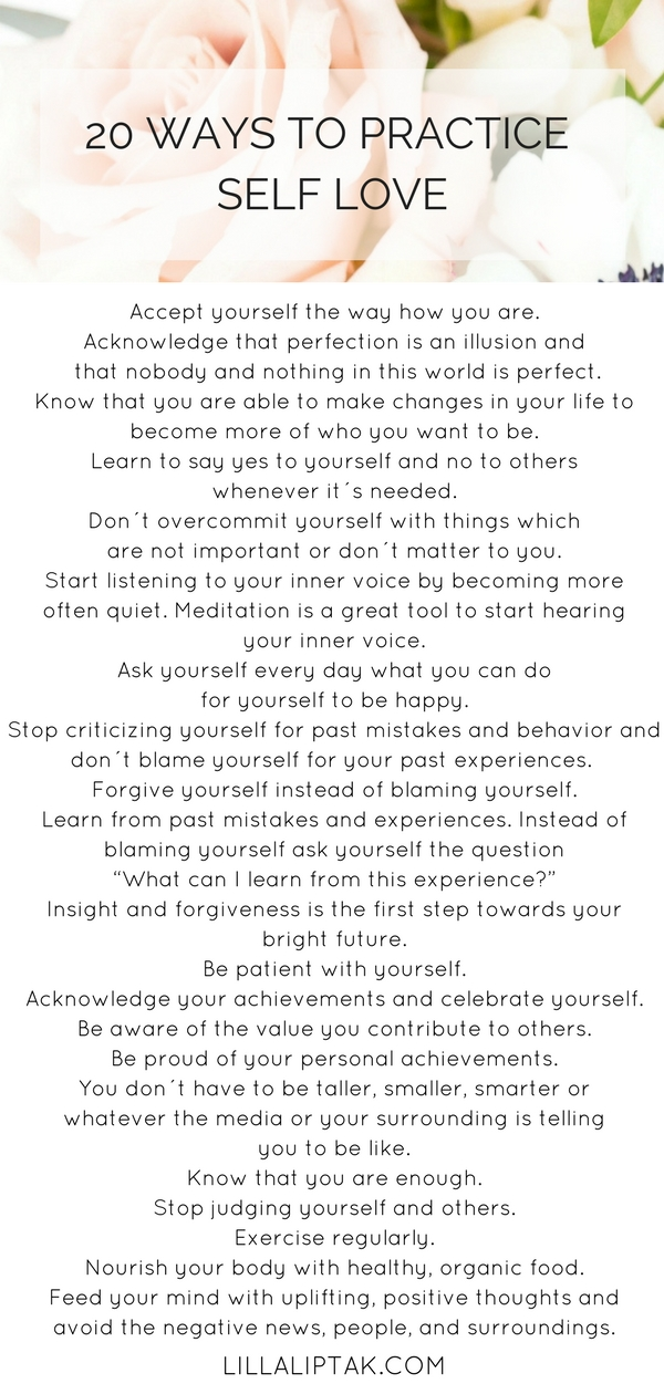 Do you want to know what self love is, why self love is important and how to cultivate self love? Download the FREE self love inspiration printable with 4 self love tips! via lillaliptak.com