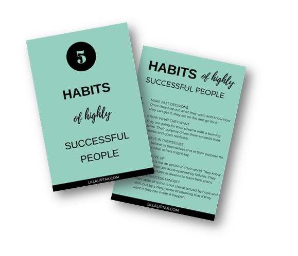 5 HABITS OF HIGHLY SUCCESSFUL PEOPLE - DOWNLOAD