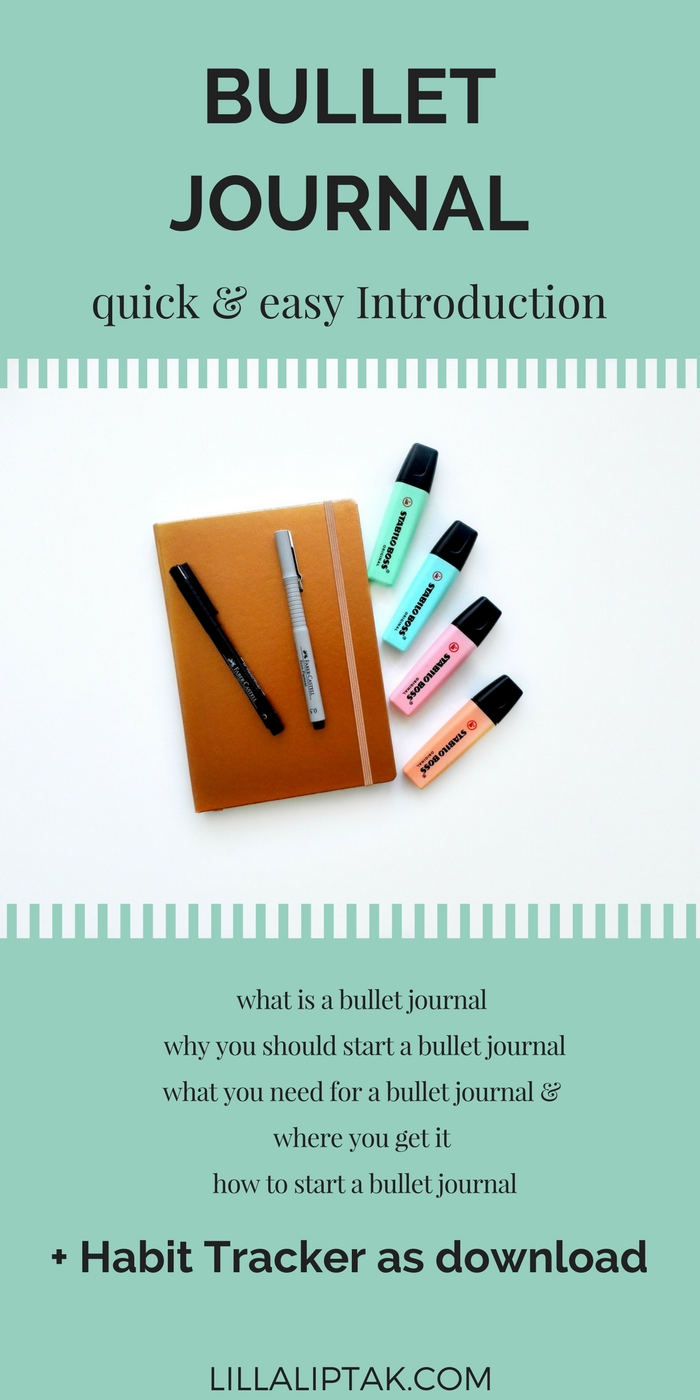 Create new habits, improve your productivity and design your dream life with the help of a bullet journal. Hop over to how to start a bullet journal, download your free habit tracker and get started! via lillaliptak.com
