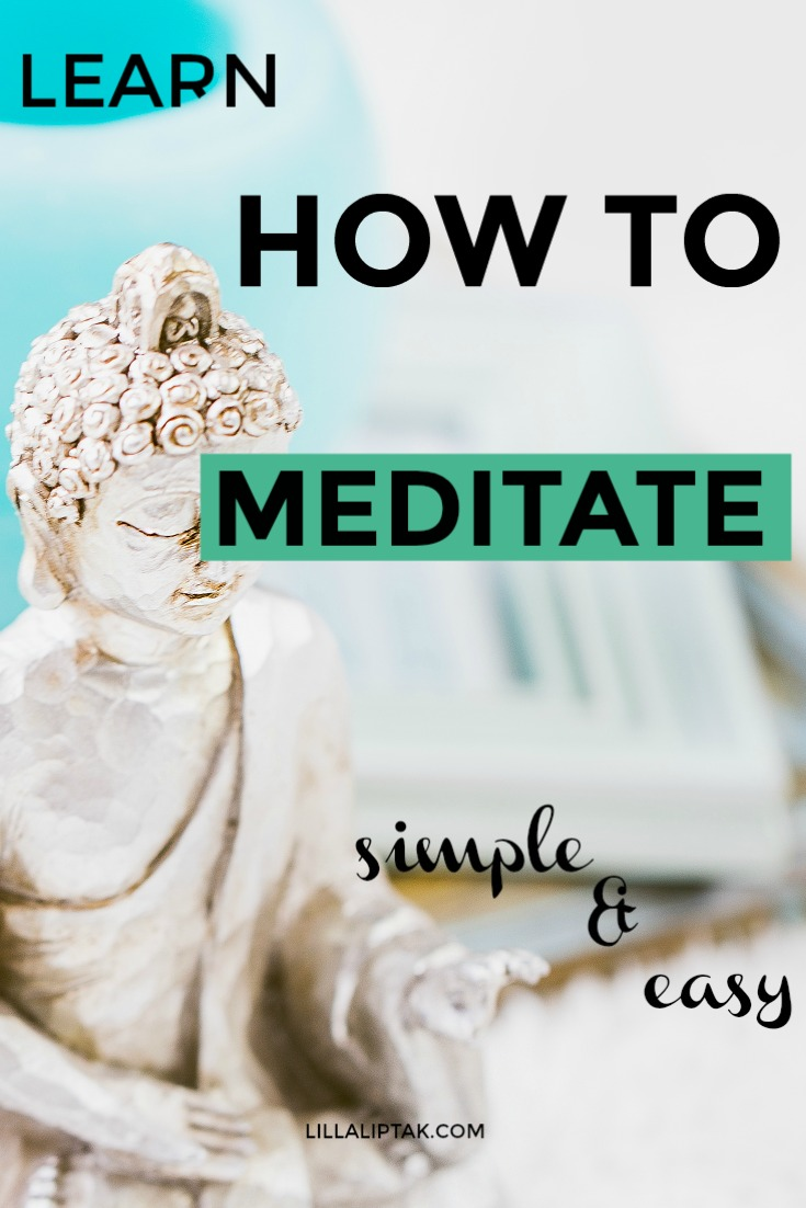 Simple and easy meditation technique via lillaliptak.com #meditation #relaxation #mindfulness #lillaliptak