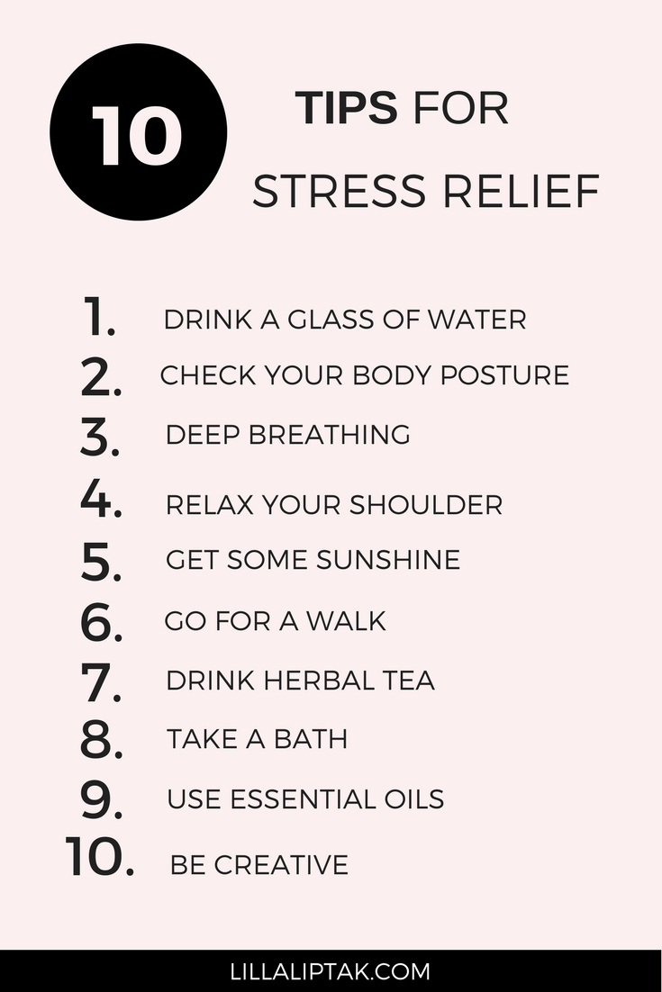 Improve your health and quality of life with mindfulness exercises and relaxation. I share with you 10 tips for instant relaxation and stress relief. Enjoy creating a balanced life! via lillaliptak.com