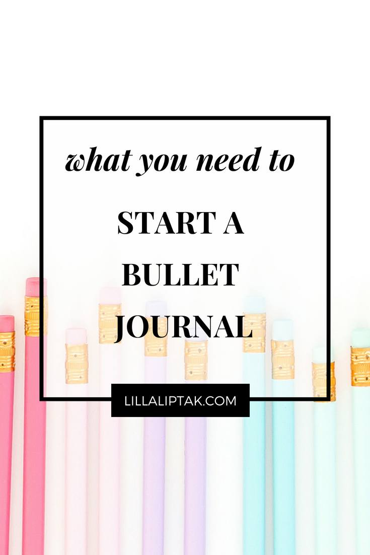 Learn about bulletjournaling via lillaliptak.com and design your dream life! #bulletjournalideas #bulletjournal #bujo #designyourlife #plannerideas #lillaliptak