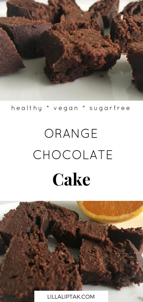 ORANGE CHOCOLATE CAKE (VEGAN, HEALTHY, SUGARFREE) #vegan #veganrecipes #veganfood #sugarfree #chocolatecake #cake #chocolate #lillaliptak
