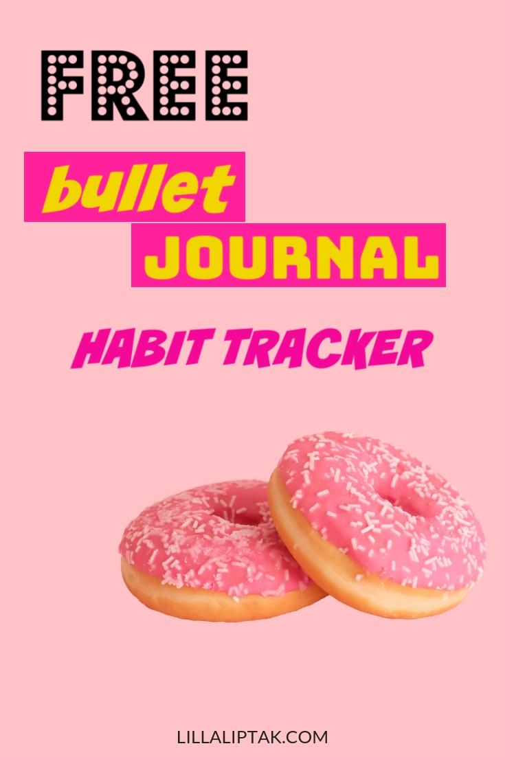 12 months habit tracker for your bullet journal as a free download! Get it via lillaliptak.com #bulletjournal #bujo #bujolove #bujoinspire #habittracker #freebie #lillaliptak