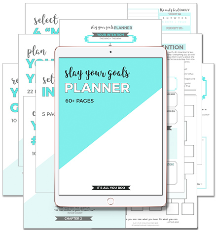 Set achieveable goals with the slay your goals planner #goals #goalsetting #planner #affiliate #ad