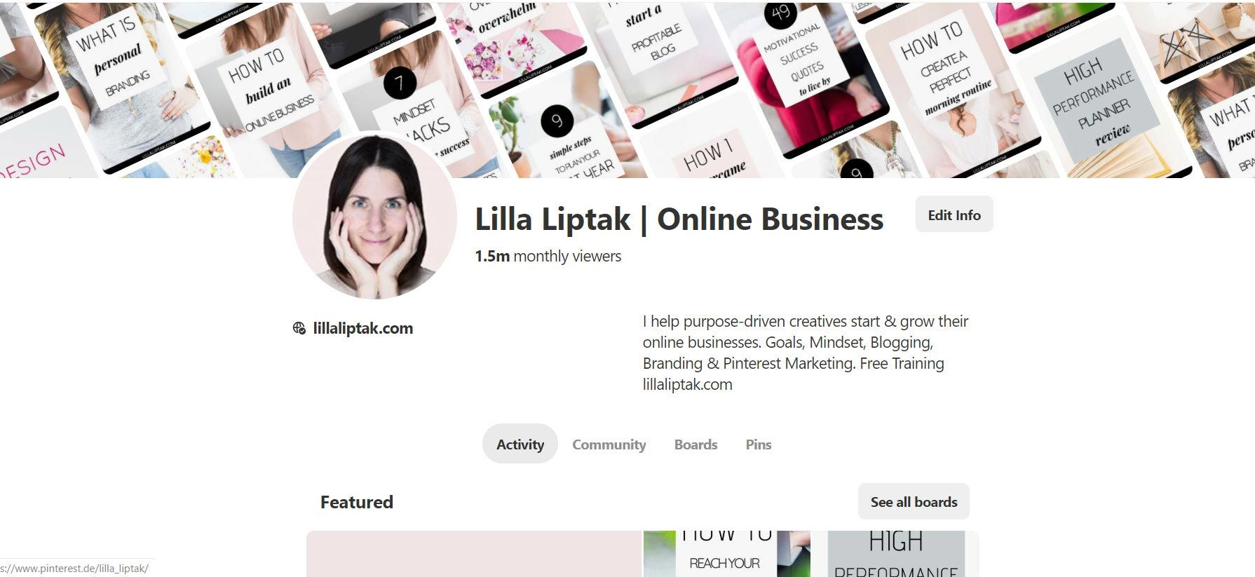 Learn the difference between Pinterest and Pinterest for business and which one to use as a blogger via lillaliptak.com #pinterestmarketing #blogtraffic #blogtraffictips #blogtrafficpinterest #blogtrafficincrease #bloggingforbeginners